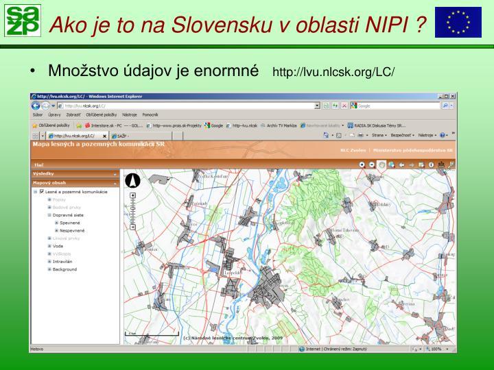 Ako je to na Slovensku v oblasti NIPI ?