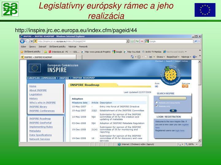Legislatívny európsky rámec a jeho realizácia