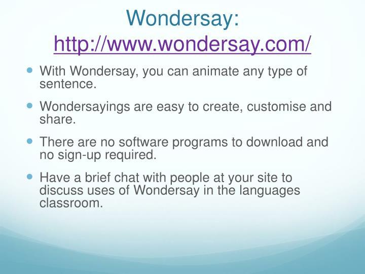 Wondersay: