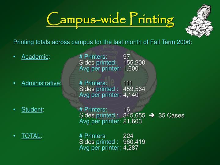 Campus-wide Printing
