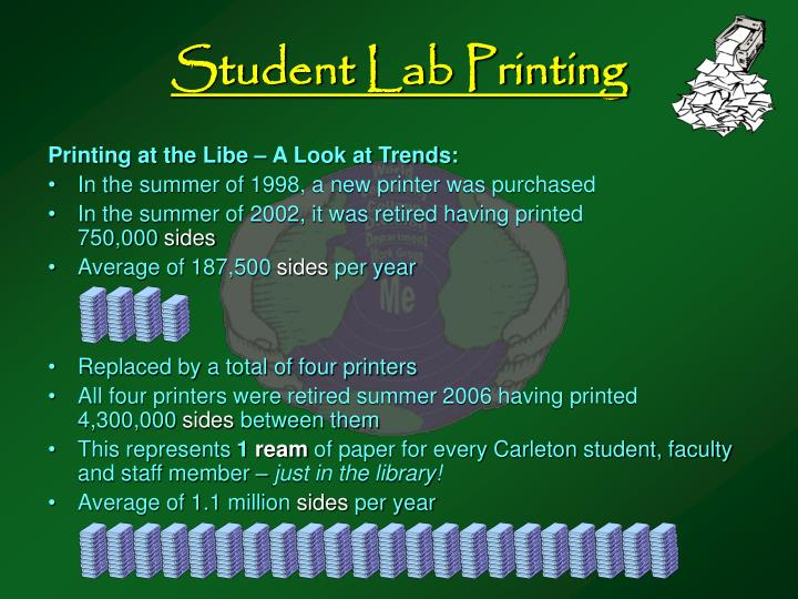 Student Lab Printing