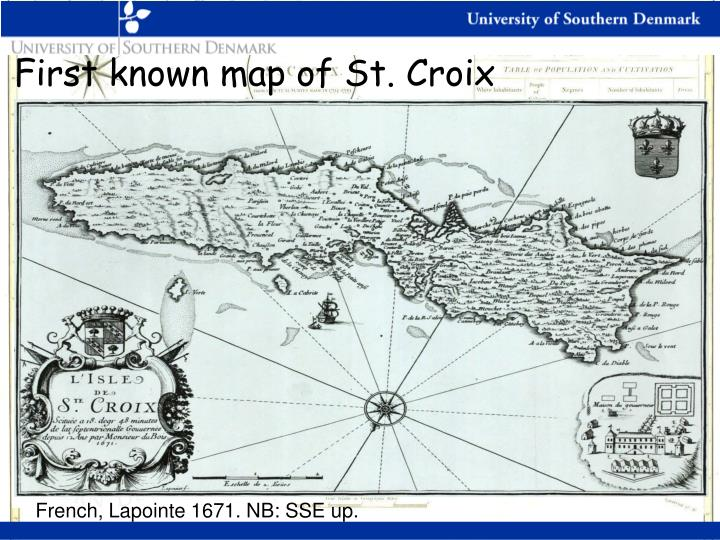 First known map of St. Croix