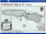 first known map of st croix