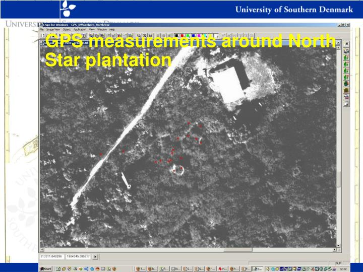 GPS measurements around North Star plantation
