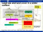 land use and land cover in a wider context
