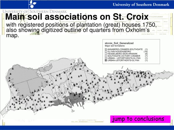 Main soil associations on St. Croix