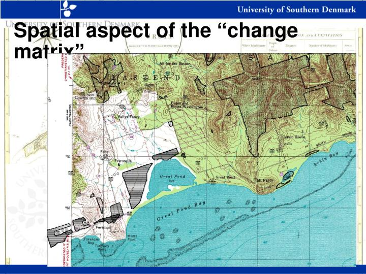 "Spatial aspect of the ""change matrix"""