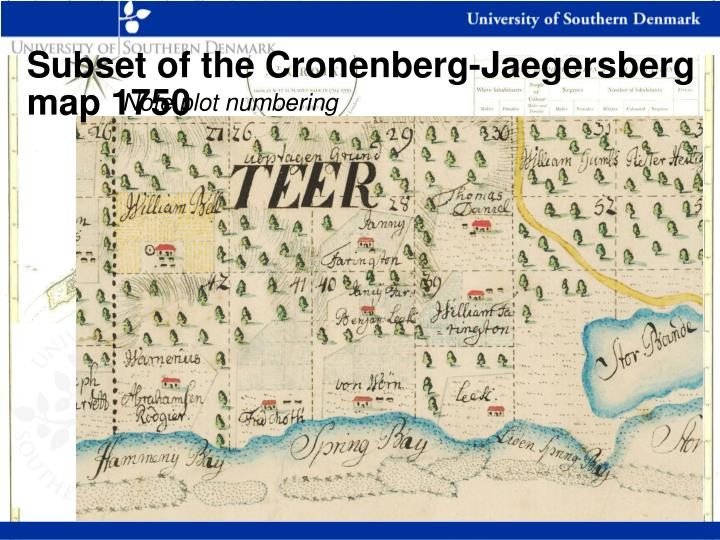 Subset of the Cronenberg-Jaegersberg map 1750