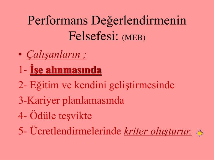 Performans Değerlendirmenin Felsefesi: