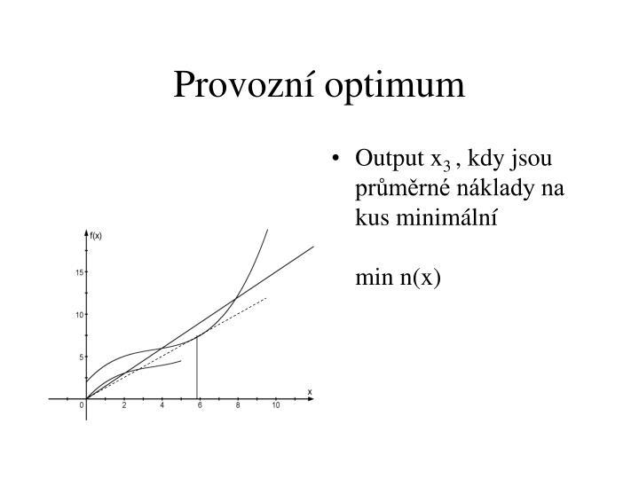 Provozní optimum