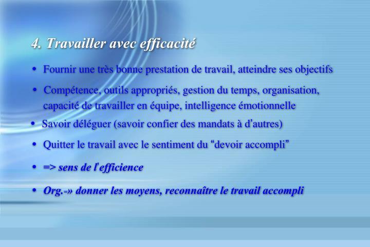 4. Travailler avec efficacité