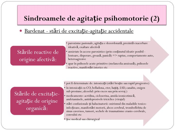 Sindroamele de agitaţie psihomotorie (2)