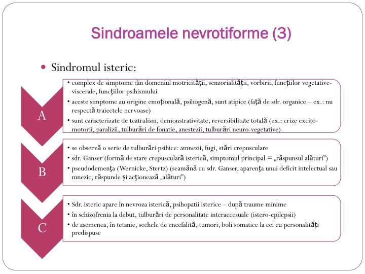 Sindroamele nevrotiforme (3)