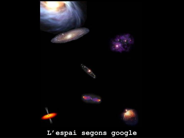 L'espai segons google