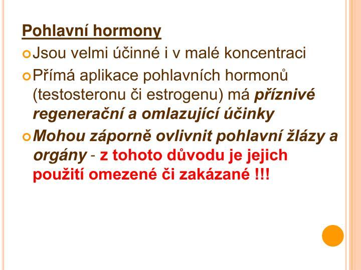 Pohlavní hormony