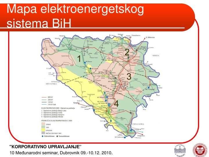 Mapa elektroenergetskog sistema BiH