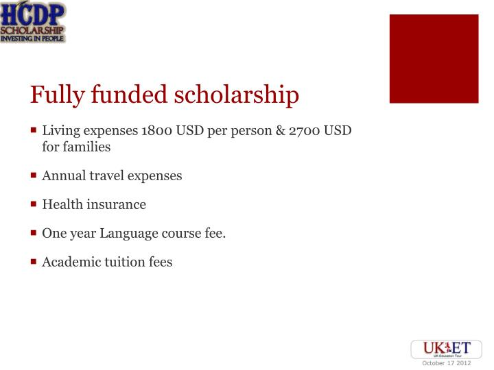 Fully funded scholarship