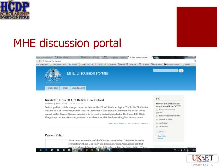 MHE discussion portal