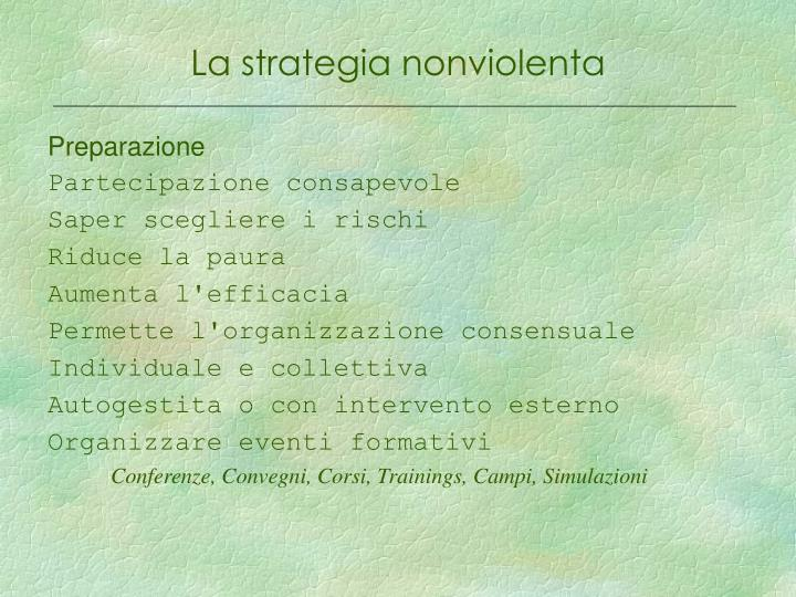 La strategia nonviolenta