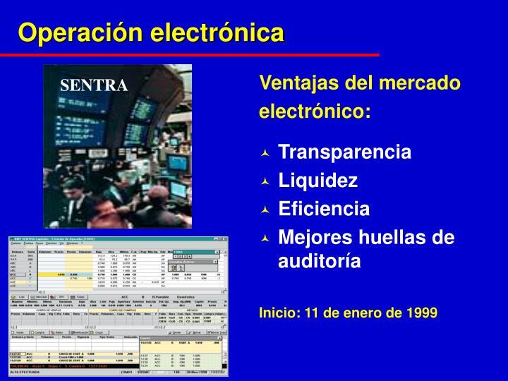 Operación electrónica