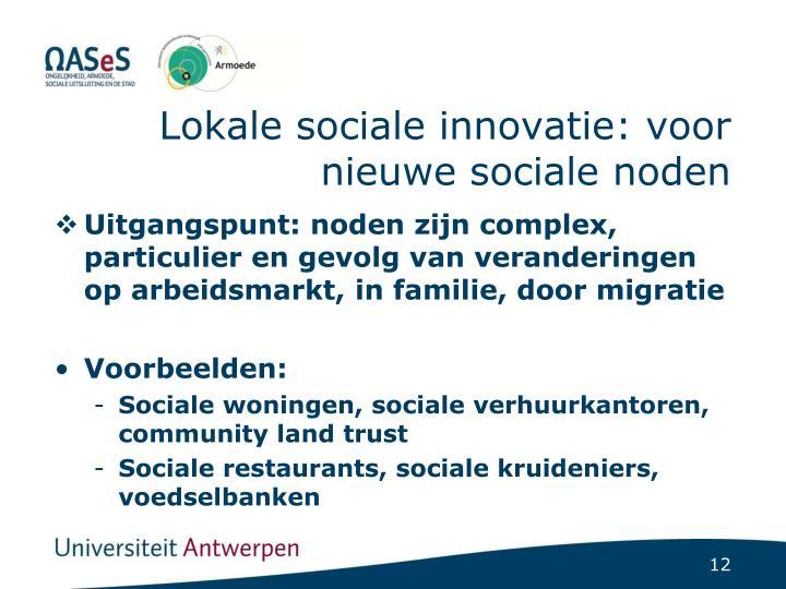 Lokale sociale innovatie: voor nieuwe sociale noden