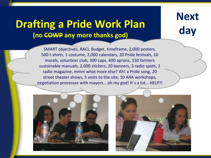 Drafting a Pride Work Plan
