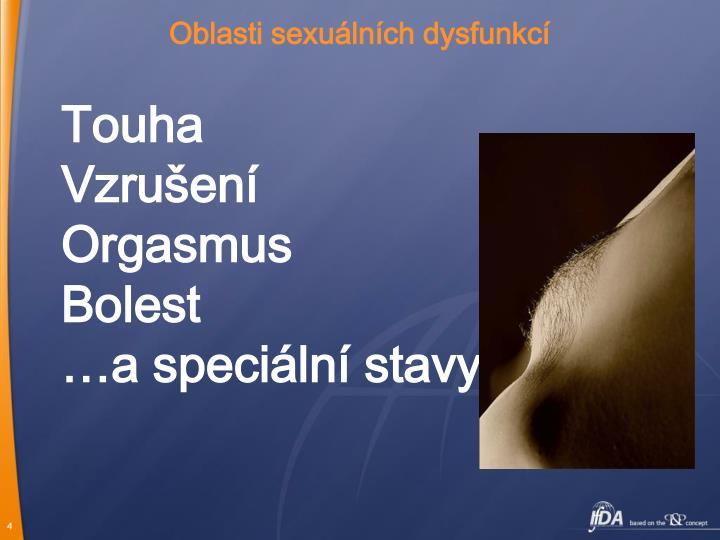 Oblasti sexuálních dysfunkcí