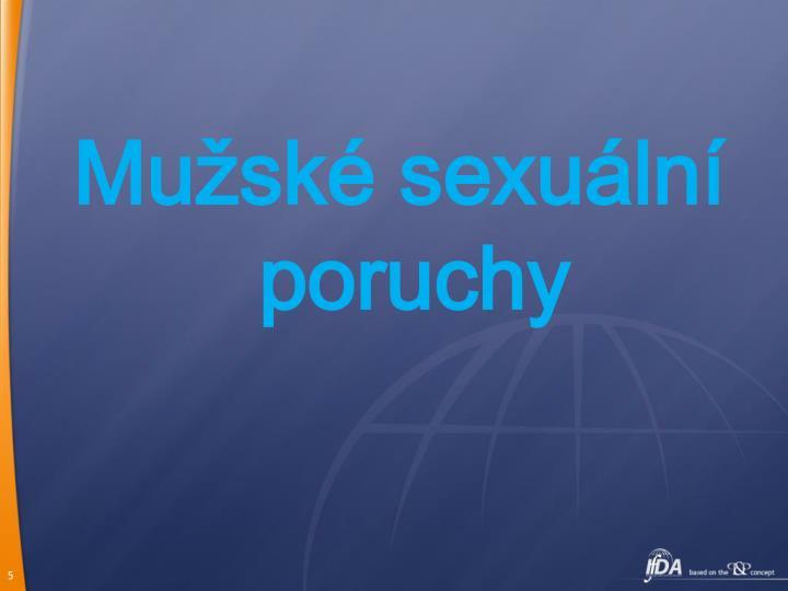 Mužské sexuální poruchy