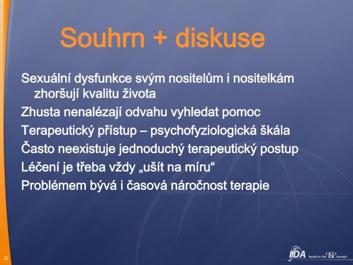 Souhrn + diskuse
