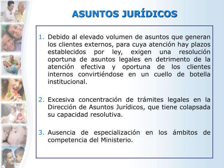 ASUNTOS JURÍDICOS