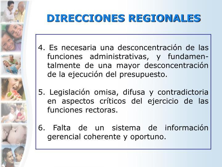 DIRECCIONES REGIONALES