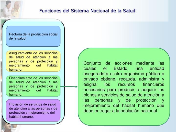 Rectoría de la producción social de la salud.