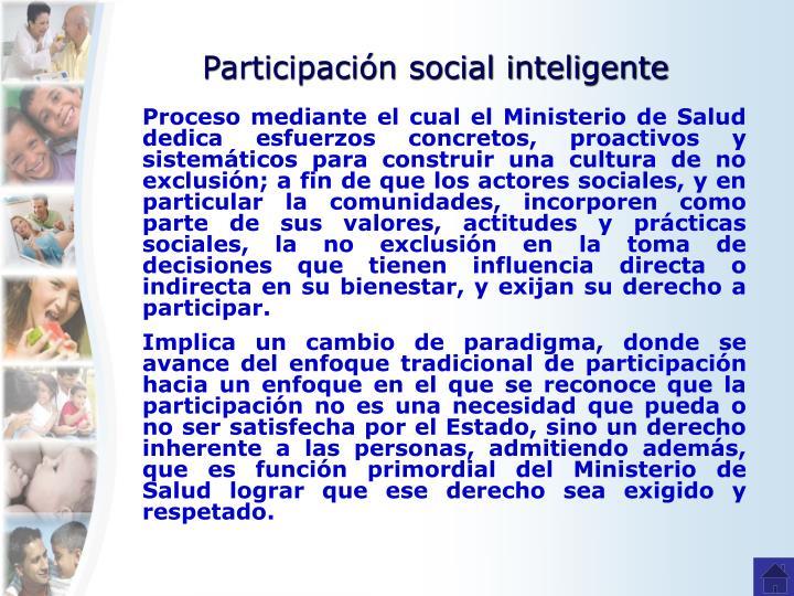 Participación social inteligente