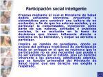 participaci n social inteligente