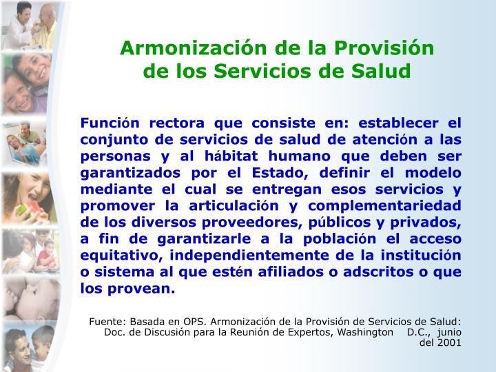 Armonización de la Provisión