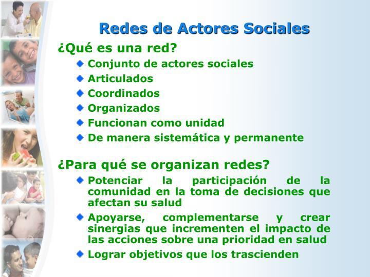 Redes de Actores Sociales