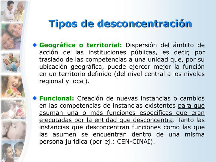 Tipos de desconcentración