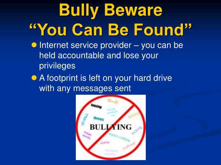 Bully Beware