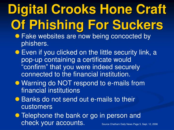 Digital Crooks Hone Craft Of Phishing For Suckers