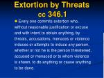 extortion by threats cc 346 1