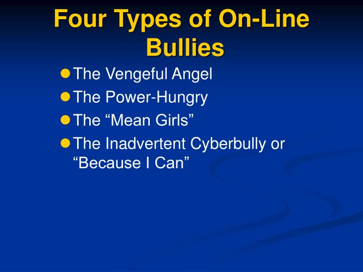 Four Types of On-Line