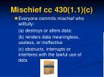 mischief cc 430 1 1 c
