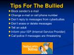 tips for the bullied