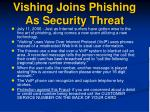vishing joins phishing as security threat