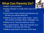 what can parents do1