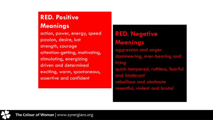 RED. Positive Meanings
