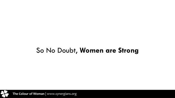 So No Doubt,