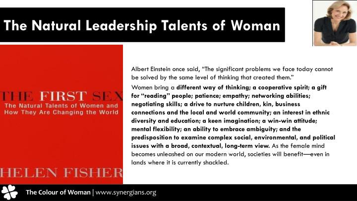 The Natural Leadership Talents of Woman