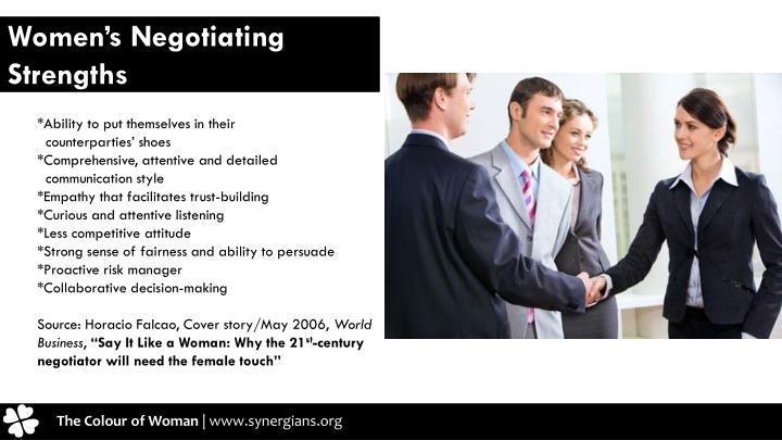 Women's Negotiating