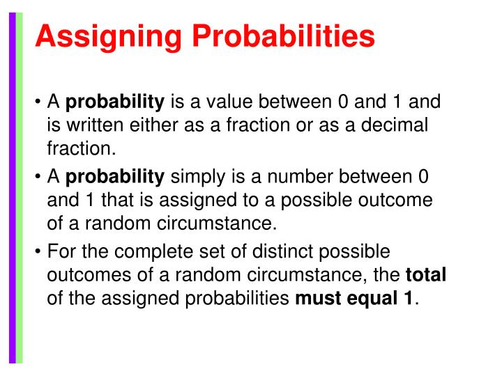 Assigning Probabilities